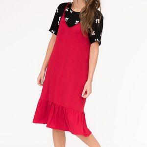 A&D Slip Dress Red